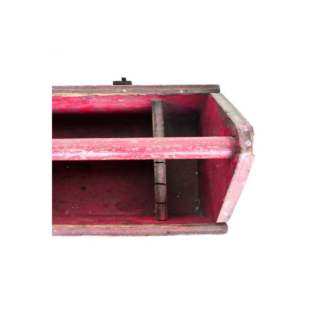Early 20th Century Red Tool & Blade Box - Image 3 of 4