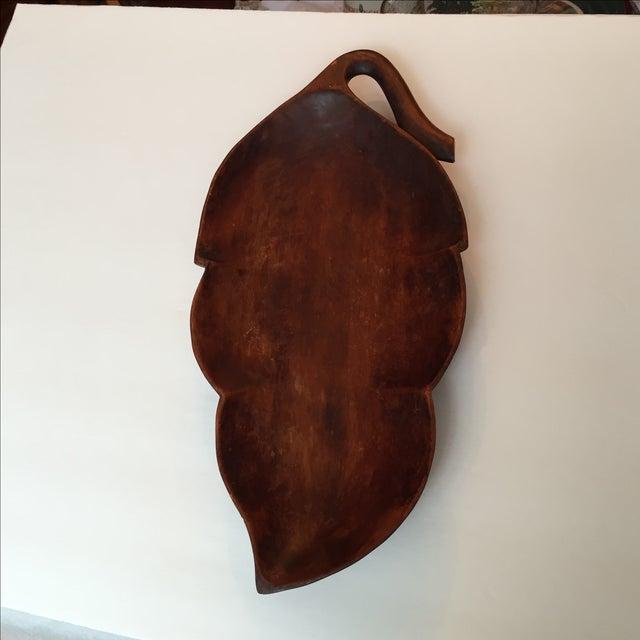 Wood Palm Leaf Platter - Image 7 of 9