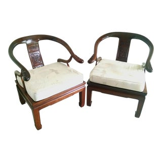 Vintage Ming Style Rosewood Chairs - a Pair