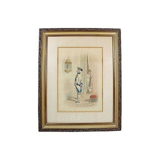 French Soldier Lithograph Print