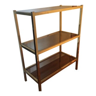 Mod Metal & Glass Small Bookcase Shelving Unit