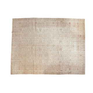 "Vintage Distressed Oushak Carpet - 9'4"" x 12'2"""
