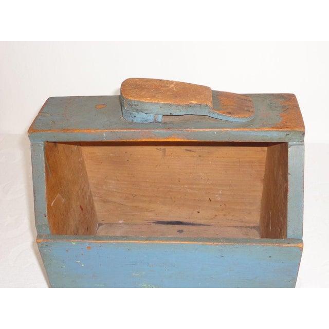 19th Century Original Blue Shoe Shine Box from Maine - Image 2 of 6