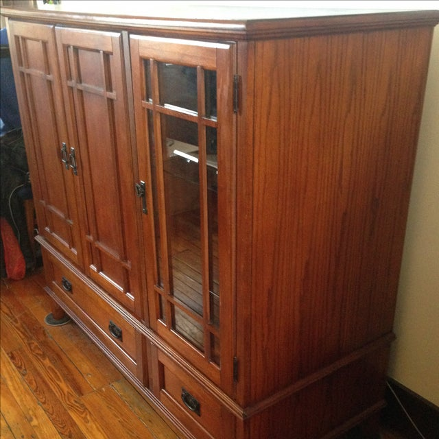 Wooden Entertainment Center - Image 3 of 6