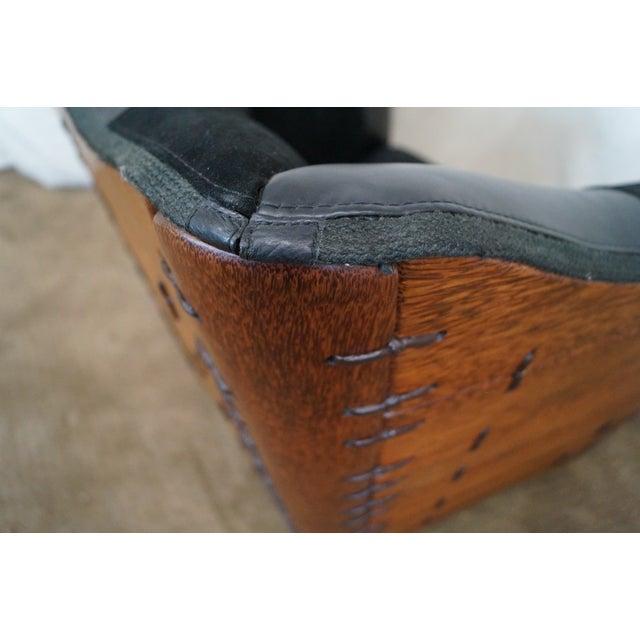 Image of Brazilian Walnut Wing Lounge Chair