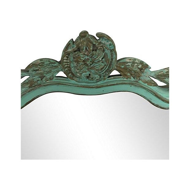 Image of Hand-Carved Turquoise Mirror