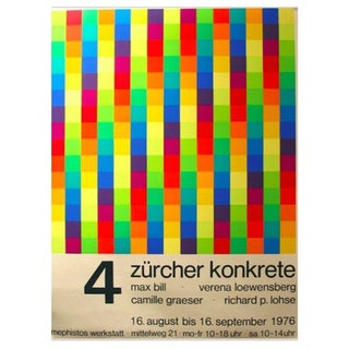 1976 German Exhibition Poster, Max Bill