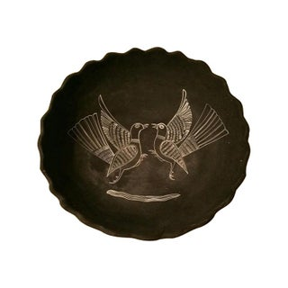 Mexican Handpainted Bowl With Birds, X. Guerrero