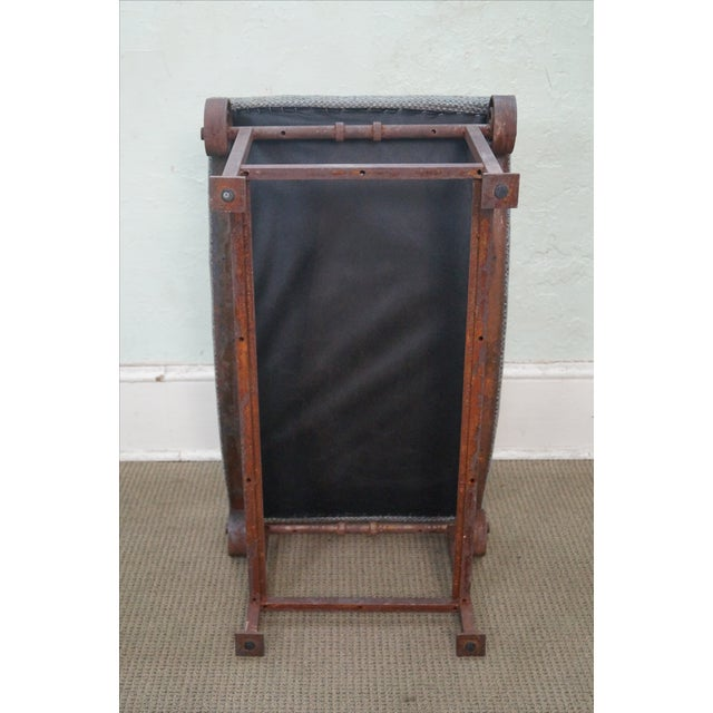 Rustic Scrolled Iron Frame Window Bench - Image 9 of 10