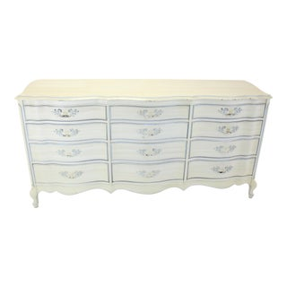 Vintage French Provincial Dresser With 12 Drawers