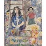 "Image of Rosalyn Mesquita ""Dolls"" Mixed Media Painting"