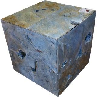 Teak Wood Cube Stool