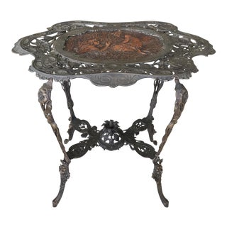 Art Nouveau French Bronze Table
