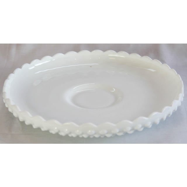Fenton Hobnail Serving Dish and Cup - A Pair - Image 5 of 5