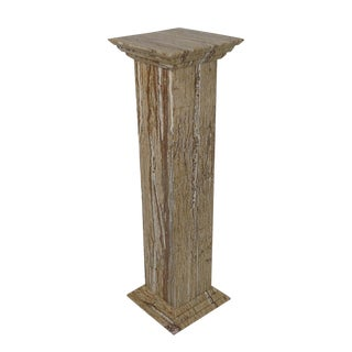 Travertine Statue or Plant Stand