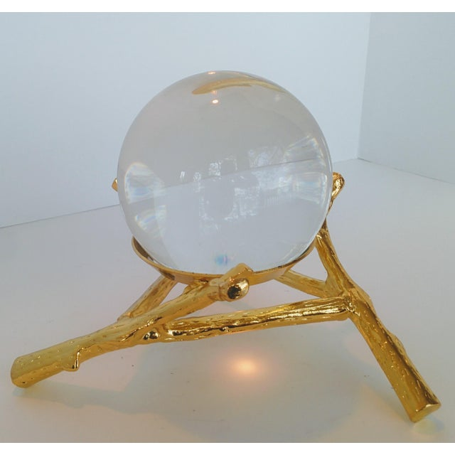 Crystal Orb With Gold Base - Image 4 of 9