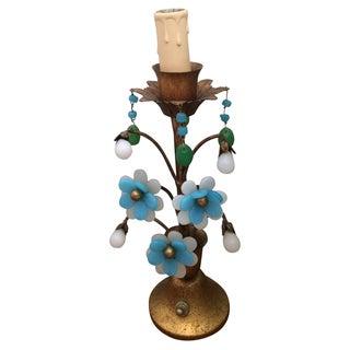 Murano Glass Blue & Green Lamp
