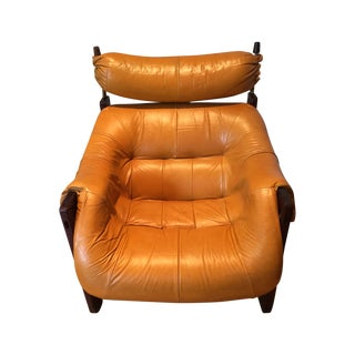 Percival Lafer Leather & Rosewood Lounge Chair
