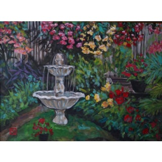 "Framed ""Begonia Gardens"" Acrylic Painting"