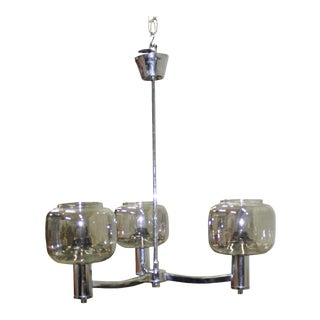 Circa 1970s Vintage Sciolari Italian Chandelier Three Light