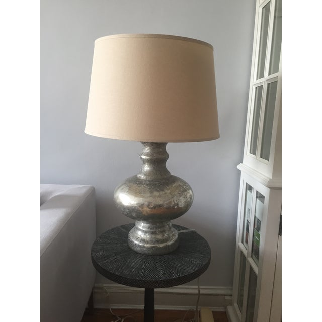 pottery barn antique mercury glass table lamps a pair chairish. Black Bedroom Furniture Sets. Home Design Ideas