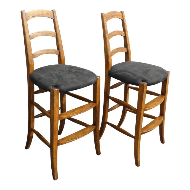Image of Minton Spidell French Country Black Bar Stools