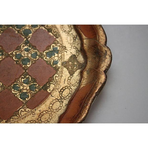 Round Florentine Tray with Scalloped Edge - Image 3 of 3