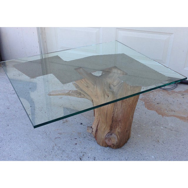 Verina Baxter Cedar Wood and Glass Coffee Table - Image 7 of 7