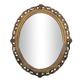 Antique Gilt Oval Mirror