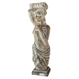 Carved Continental Wood Figure