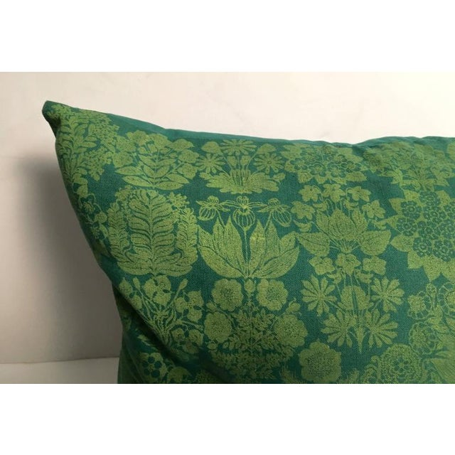 Folly Cove Designers Hand Block Printed Pillow with US State Flowers - Image 4 of 8