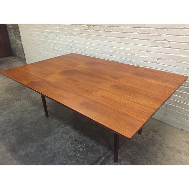 Walnut Mid-Century Danish Modern Dining Table - Image 4 of 7