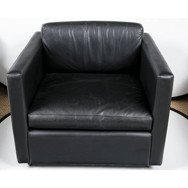Pfister Lounge Chair in Black Leather - Image 3 of 7