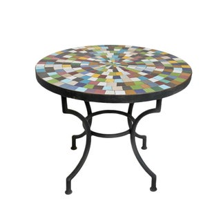 Handmade Mosaic Tile Side Table