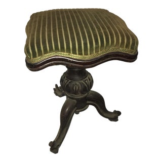 Old Piano Swivel Stool