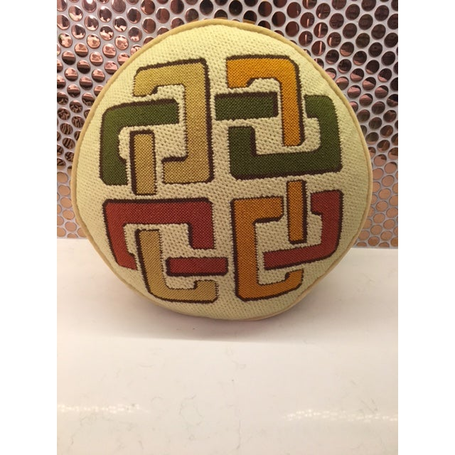 1970's Geometric Needlepoint Pillow - Image 2 of 4