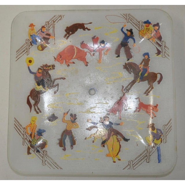 1940s Cowboy Ceiling Light Fixture - Image 4 of 5