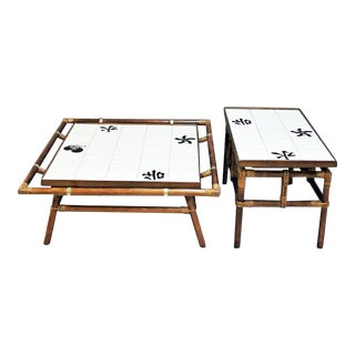 Ficks Reed Bamboo Coffee Table & Side Table