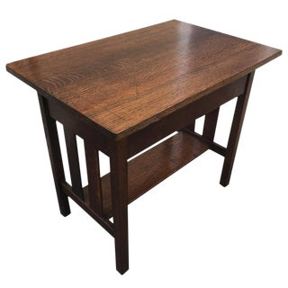 Antique Arts and Crafts Mission Tiger Oak Crafts Hall Table