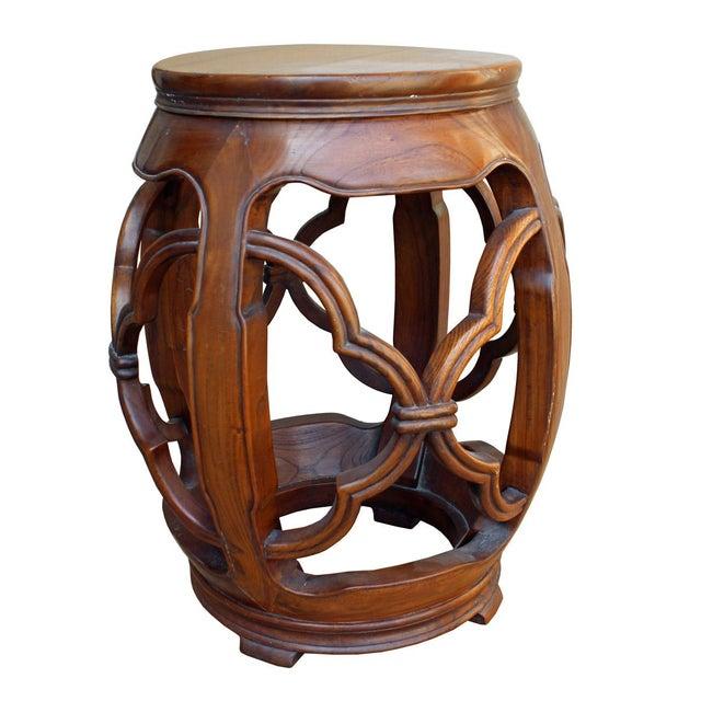 Chinese Wood Drum Stool Chairish
