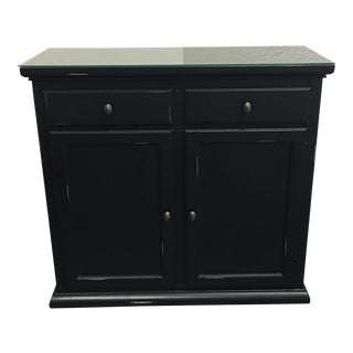 Pottery Barn Distressed Black Sideboard