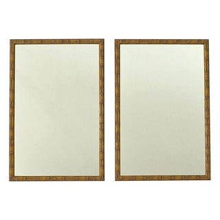 Faux-Bamboo Wall Mirrors