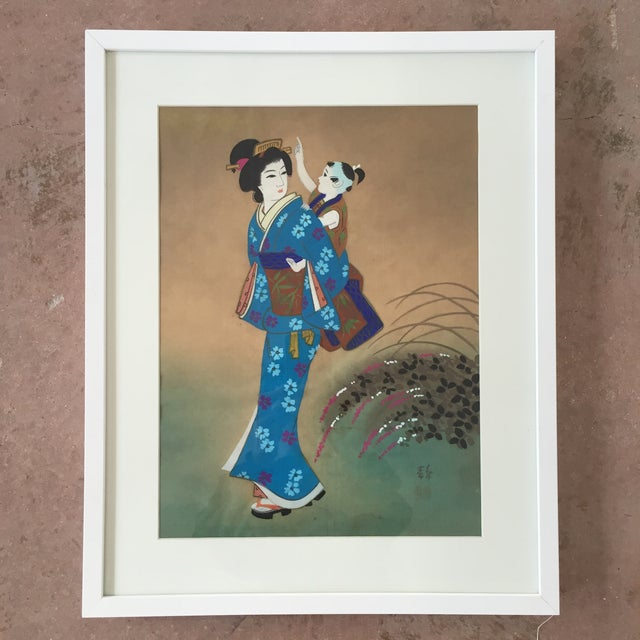 Japanese Hand Painted Silk - Image 2 of 11