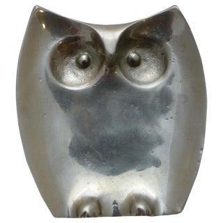Mid-Century Pewter Owl Penny Tray