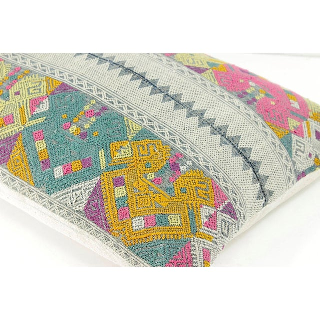 Vintage Lao Textile Custom Pillow - Image 3 of 4