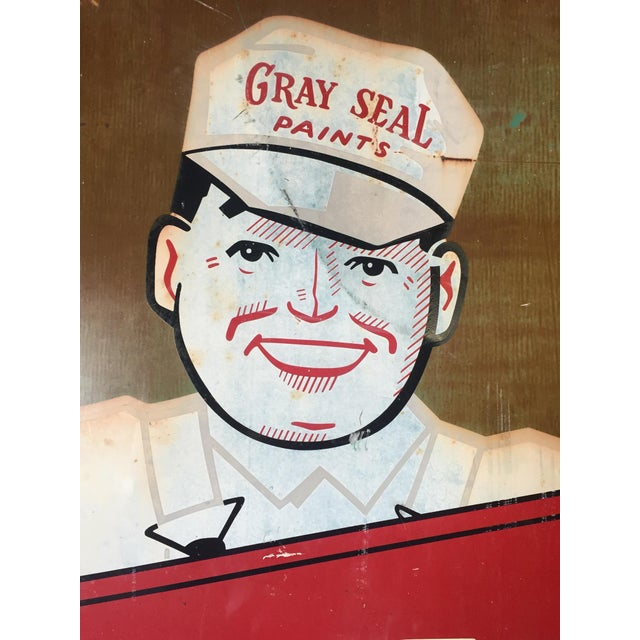 Vintage Original Gray-Seal Paints Sign - Image 4 of 10