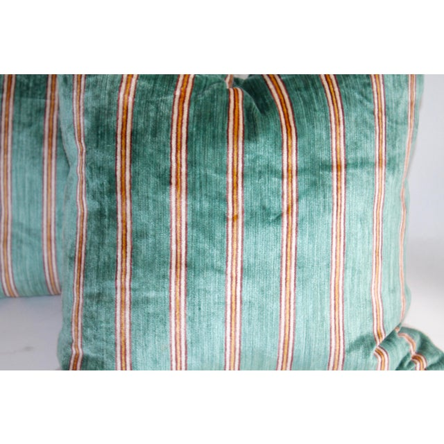 Striped Velvet Pair of Pillows - Image 3 of 4