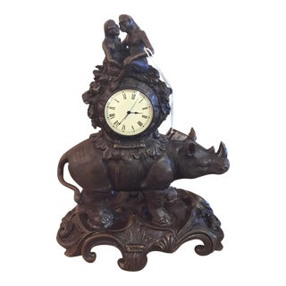 Maitland-Smith Rhino & Monkey Clock