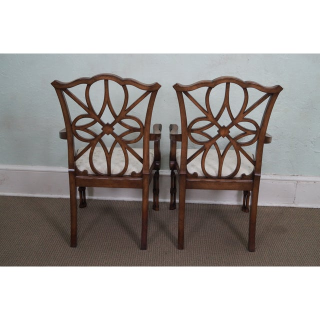 Smith & Watson Regency Style Arm Chairs - Pair - Image 4 of 10
