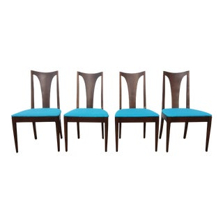 Broyhill Restored Walnut Chairs - Set of 4